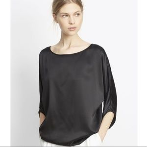 Vince silk satin envelope sleeve blouse sz Small